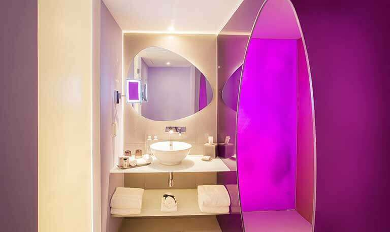 Trendy Ocean Bathroom at Temptation Cancun